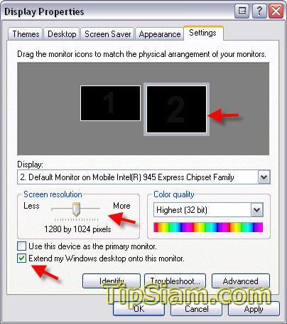 2 monitor setting