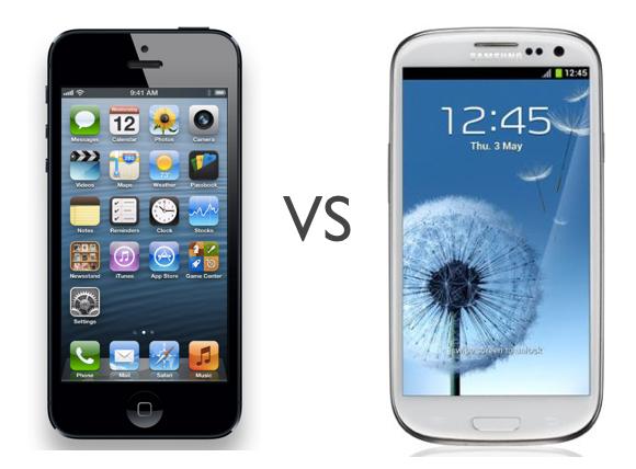 iphone 5 vs samsung galaxy s3