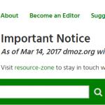 โครงการสารบัญเว็บ Open Directory Project (DMOZ) ประกาศปิดตัว