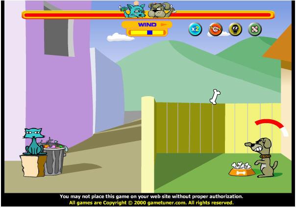 เกมส์เขวี้ยงหัวหมาปาหัวแมว