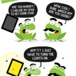 Cartoon : ใครต่อใคร ก็ใช้ App ???